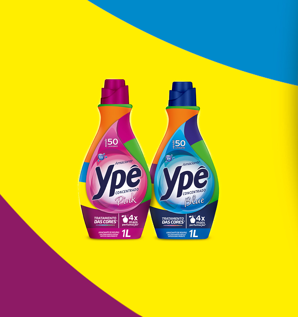 Pink and Blue Ypê Concentrated Fabric Softener